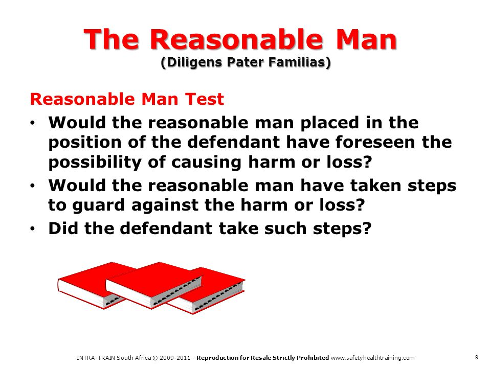 The Reasonable Man (Diligens Pater Familias)