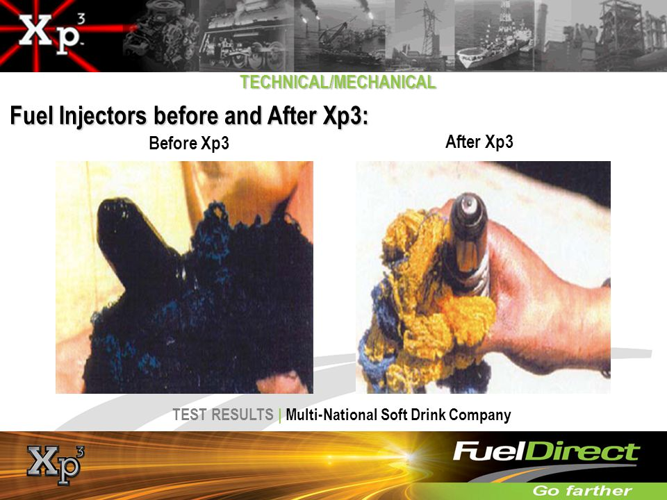 Fuel Injectors before and After Xp3: