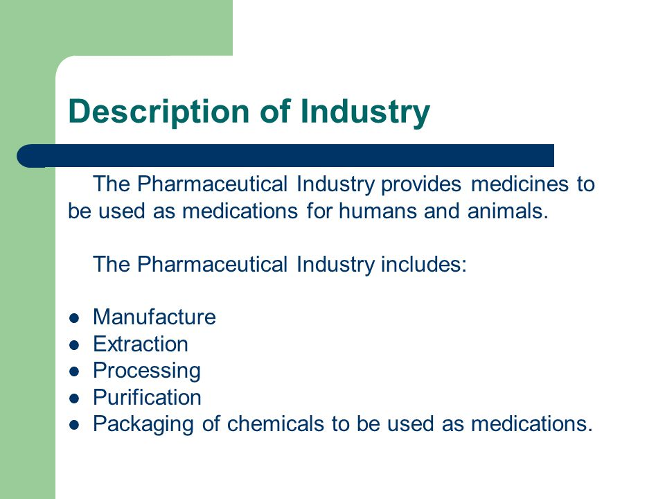 Description of Industry