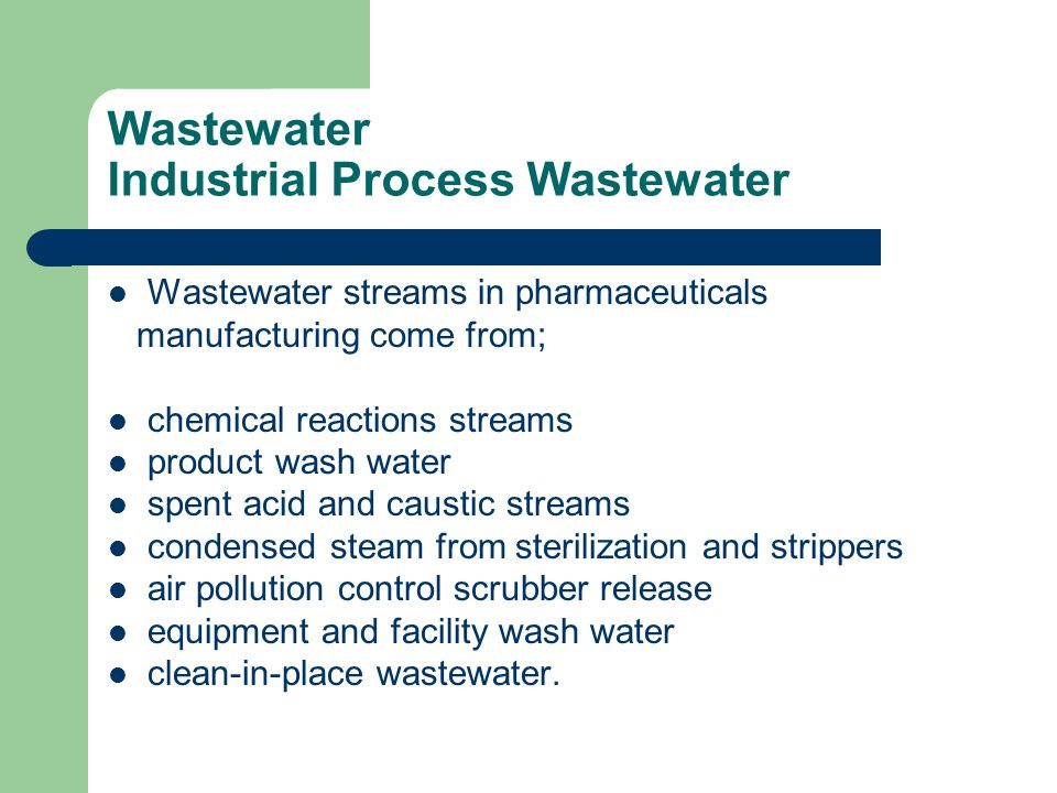Wastewater Industrial Process Wastewater