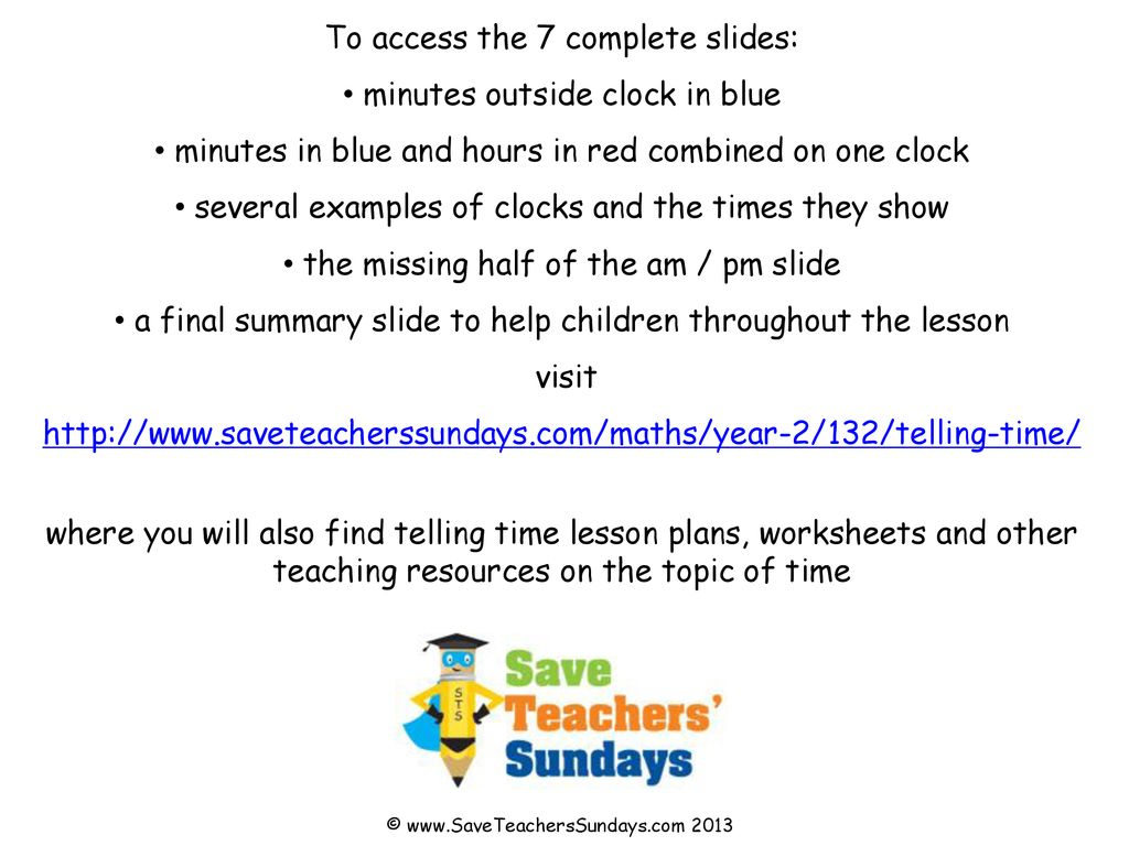 Telling Time images © © ppt download