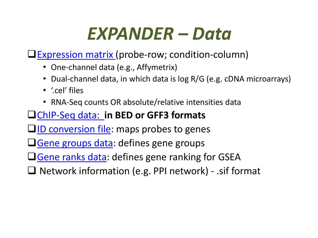 EXPression ANalyzer and DisplayER - ppt download