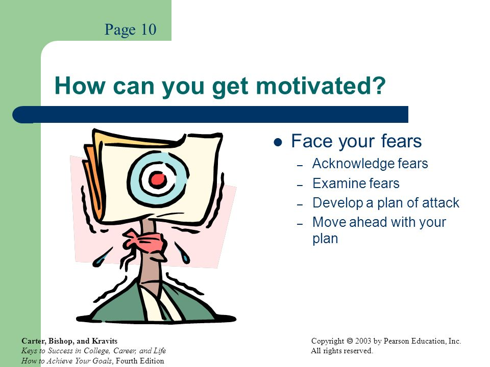 How can you get motivated