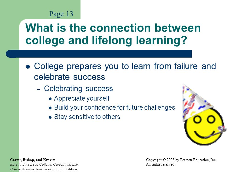 What is the connection between college and lifelong learning