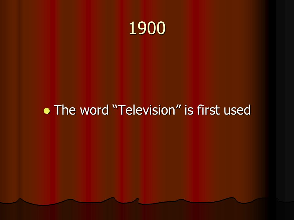 The word Television is first used