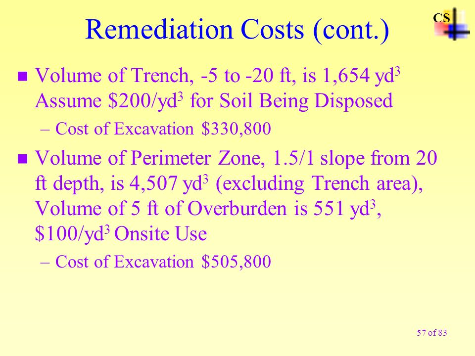 Remediation Costs (cont.)