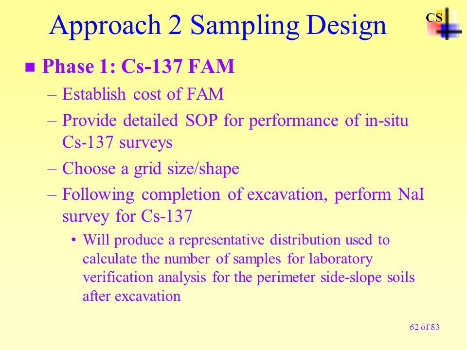 Approach 2 Sampling Design