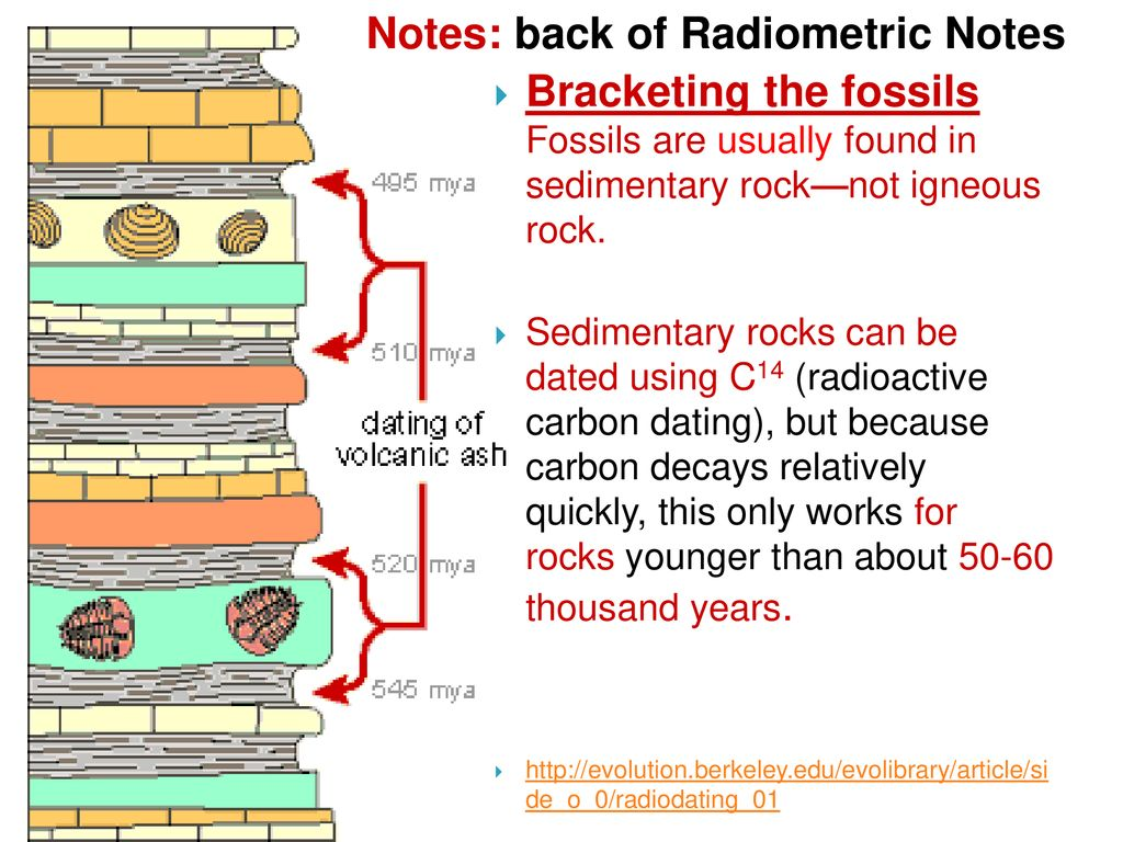 Explain how radioactive dating works and why it works only with igneous rocks