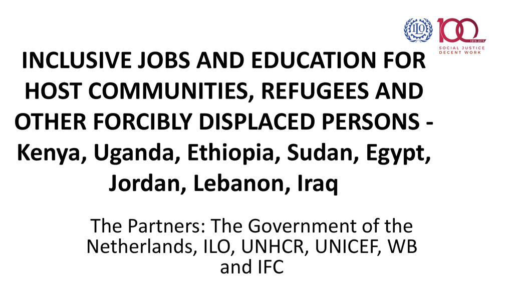 INCLUSIVE JOBS AND EDUCATION FOR HOST COMMUNITIES, REFUGEES AND
