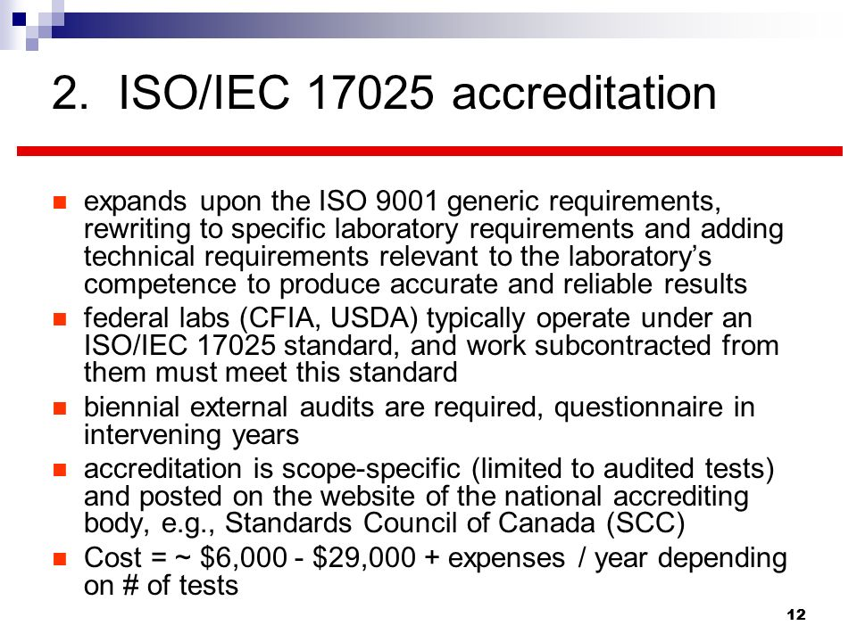 2. ISO/IEC accreditation