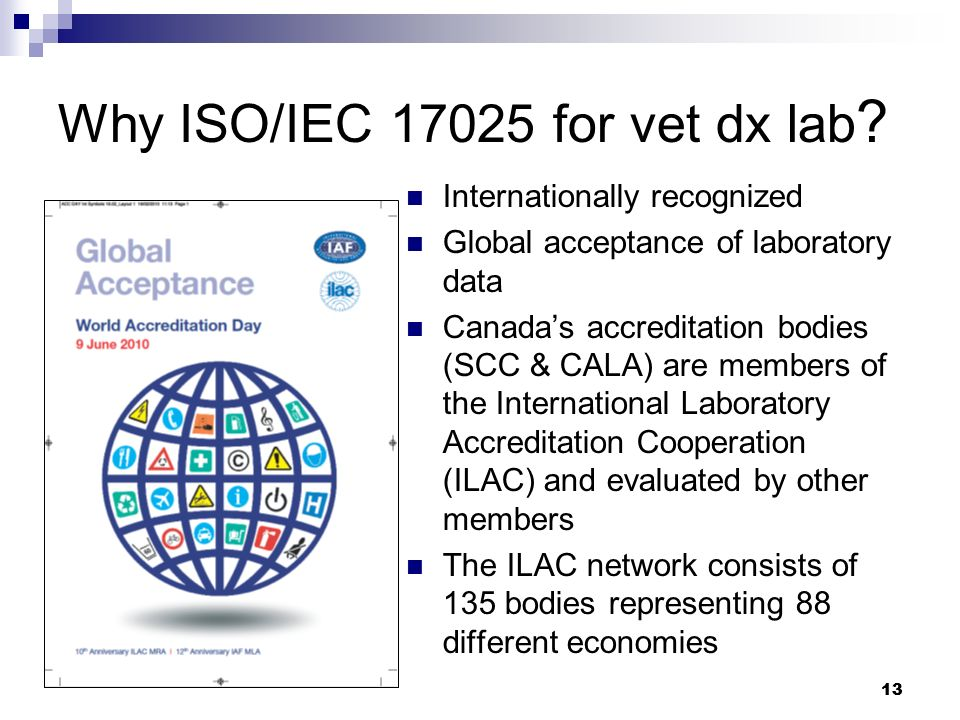 Why ISO/IEC 17025 for vet dx lab