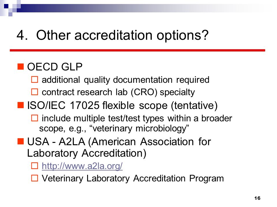 4. Other accreditation options