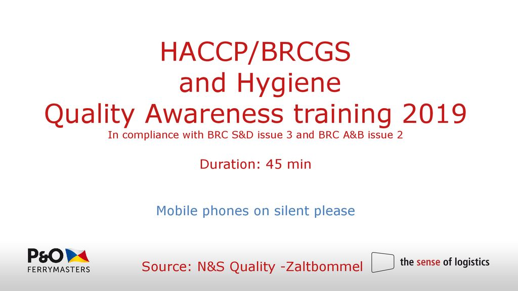 HACCP/BRCGS and Hygiene Quality Awareness training - ppt