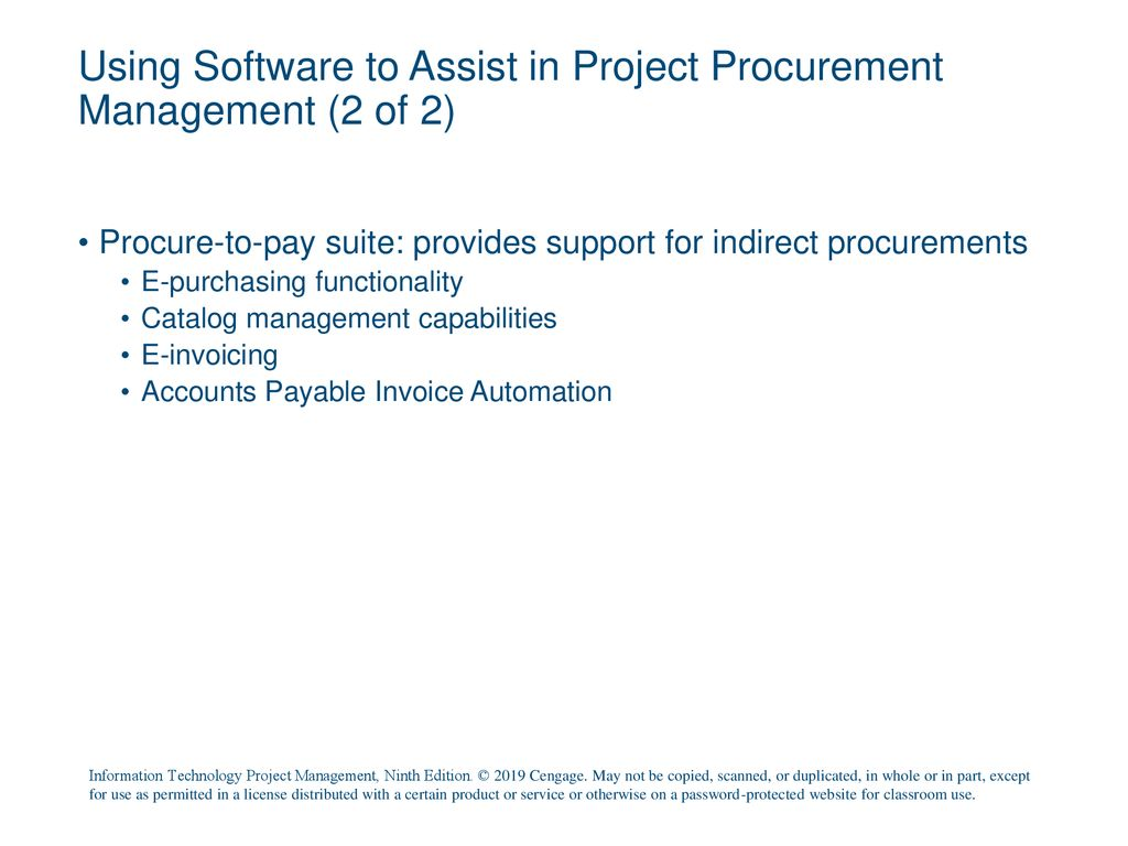 Chapter 12: Project Procurement Management - ppt download