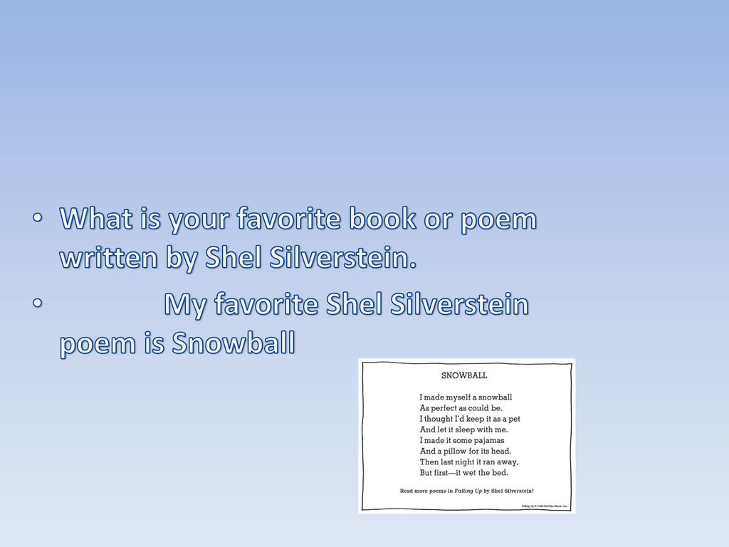 Shels Life Who Was Shel Silverstein Ppt Download