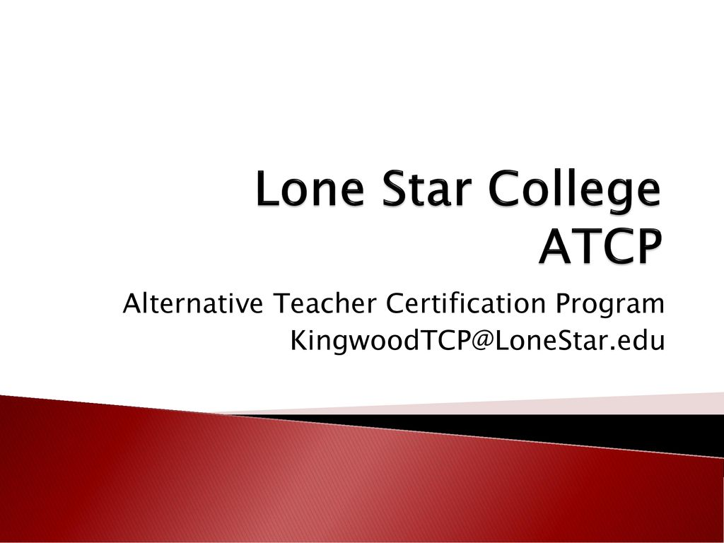 Alternative Teacher Certification Program Ppt Download