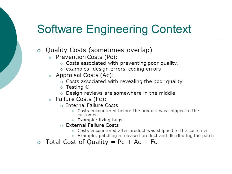Software Engineering Context
