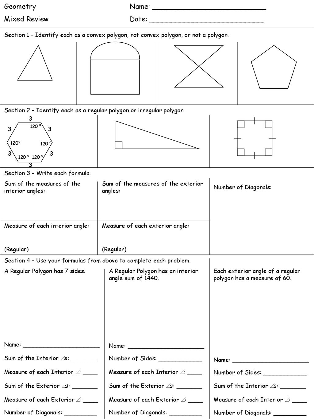 Geometry Topics Name: - ppt download