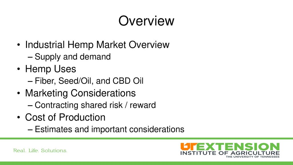 Industrial Hemp: Economics and Marketing - ppt download