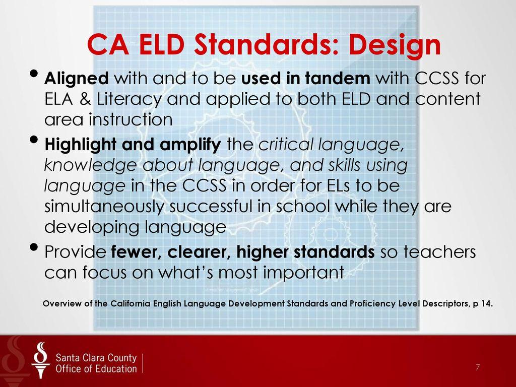 New English Language Development and Common Core State