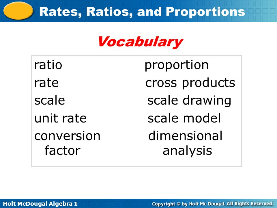 Vocabulary ratio proportion rate cross products scale scale drawing