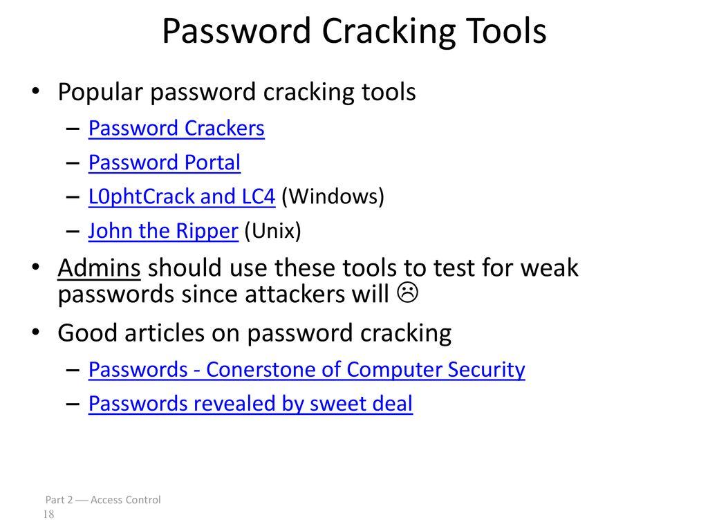 Cracking Portal