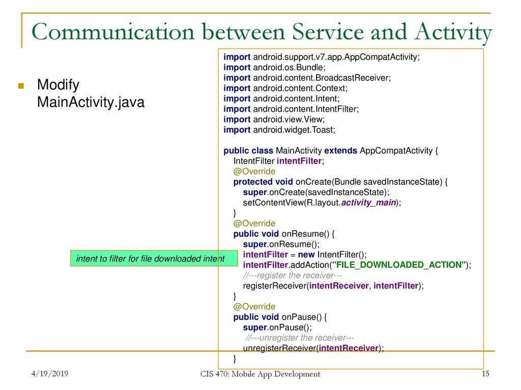 CIS 470 Mobile App Development - ppt download