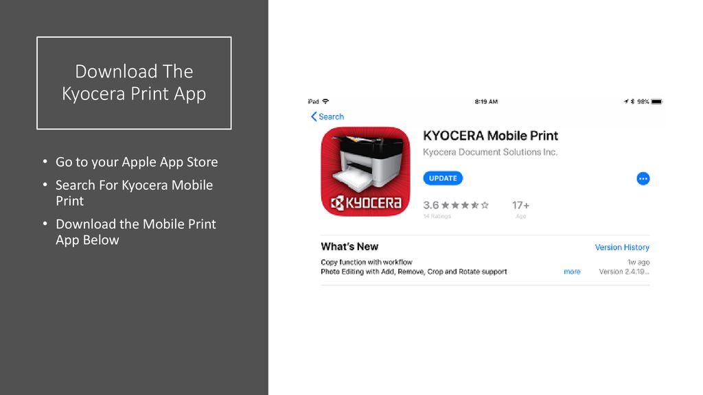 Kyocera: Mobile Print Guide - ppt download