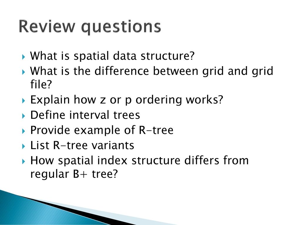Spatial Data Management - ppt download