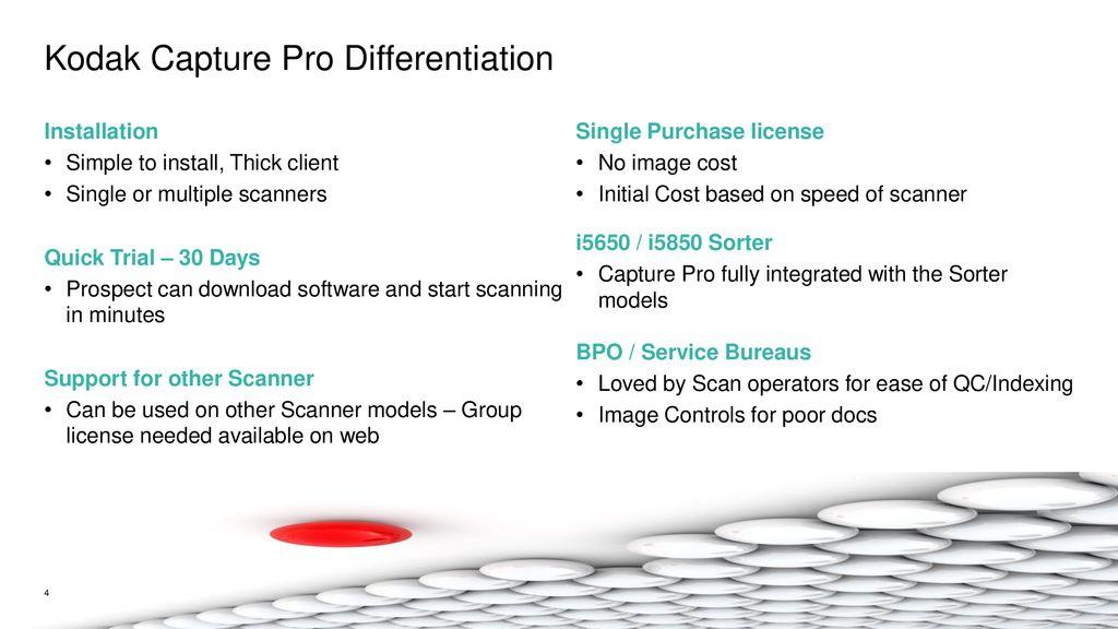 Kodak Alaris Capture Pro & Info Input Solution Software