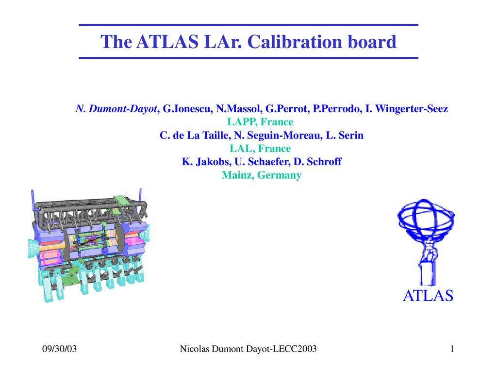 7452bc6a2e280 The ATLAS LAr. Calibration board K. Jakobs