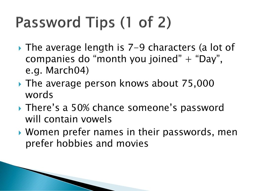 Operating Systems 1: Password Hacking - ppt download