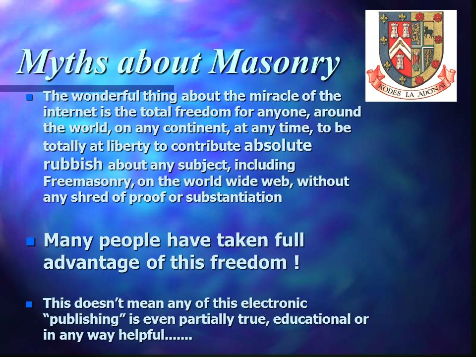 Myths about Masonry