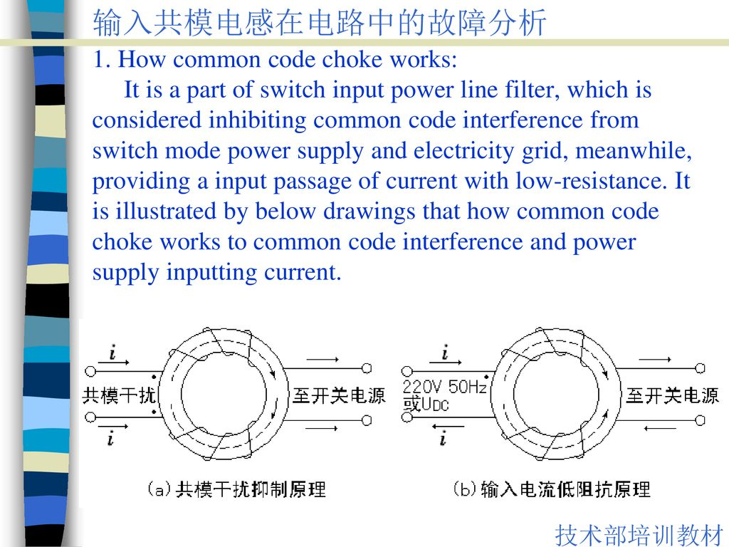The failure analysis on common mode choke in circuit - ppt