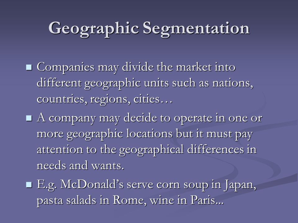 toyota geographic segmentation