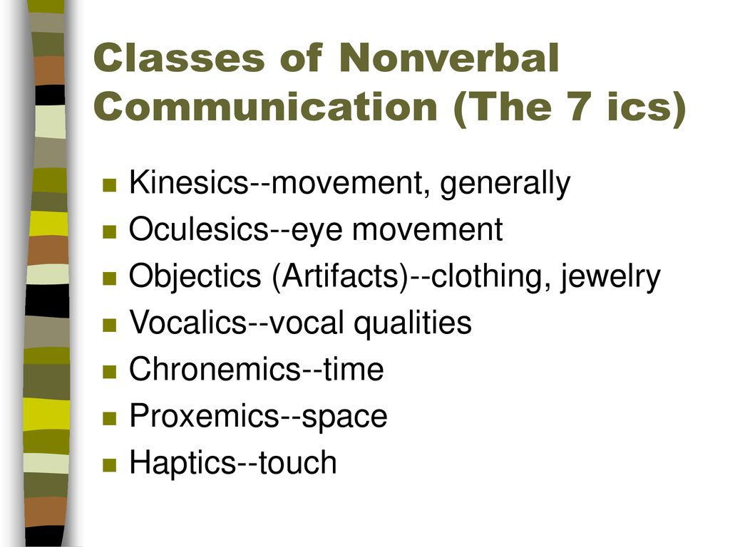 Language And Nonverbal Communication Ppt Download Study of how we use space and what space means to us. language and nonverbal communication