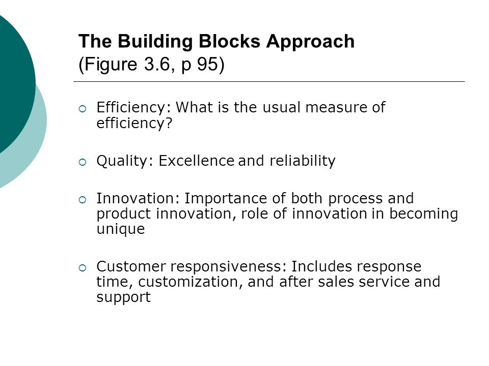 The Building Blocks Approach (Figure 3.6, p 95)