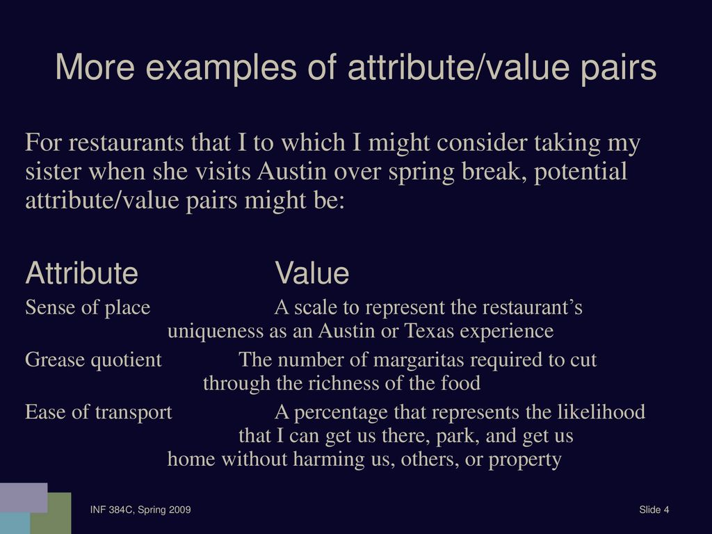 Attributes and Values Describing Entities  - ppt download