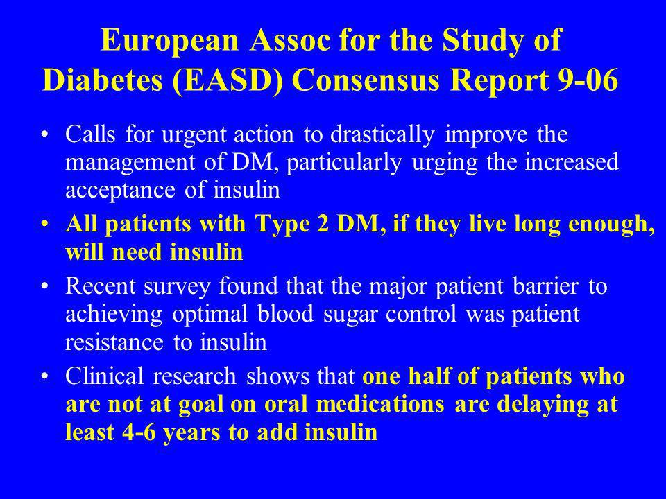 European Assoc for the Study of Diabetes (EASD) Consensus Report 9-06