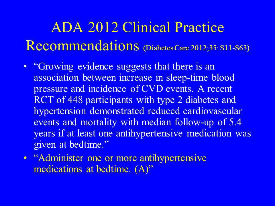 ADA 2012 Clinical Practice Recommendations (Diabetes Care 2012;35: S11-S63)
