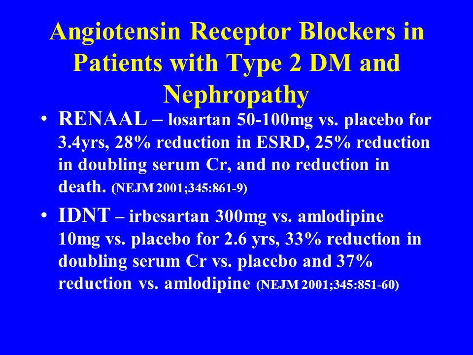 Angiotensin Receptor Blockers in Patients with Type 2 DM and Nephropathy