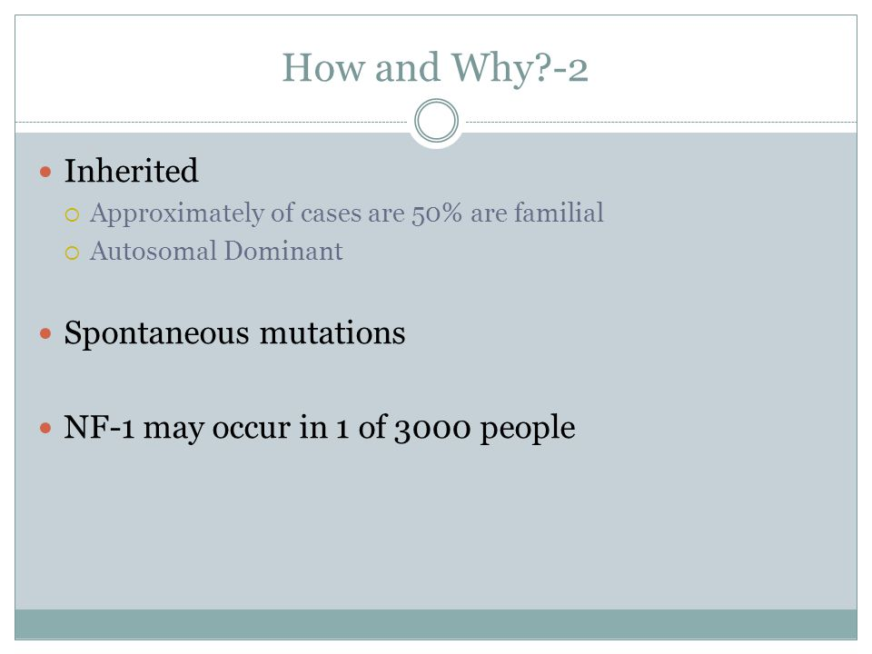 How and Why -2 Inherited Spontaneous mutations