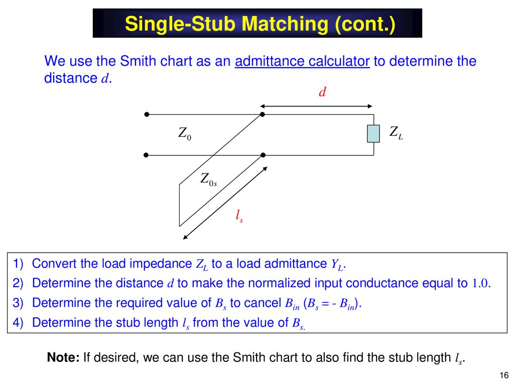 Notes 13 Transmission Lines (Impedance Matching) - ppt download