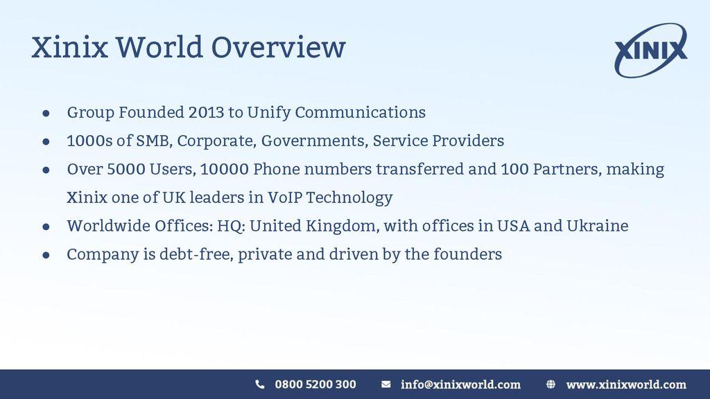 Xinix World Presentation - ppt download