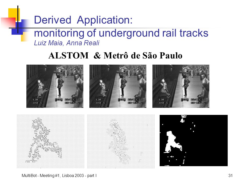 Derived Application: monitoring of underground rail tracks Luiz Maia, Anna Reali
