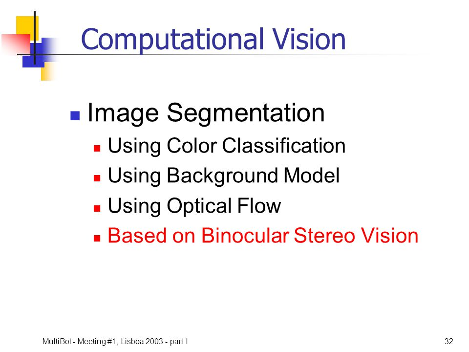 Computational Vision Image Segmentation Using Color Classification