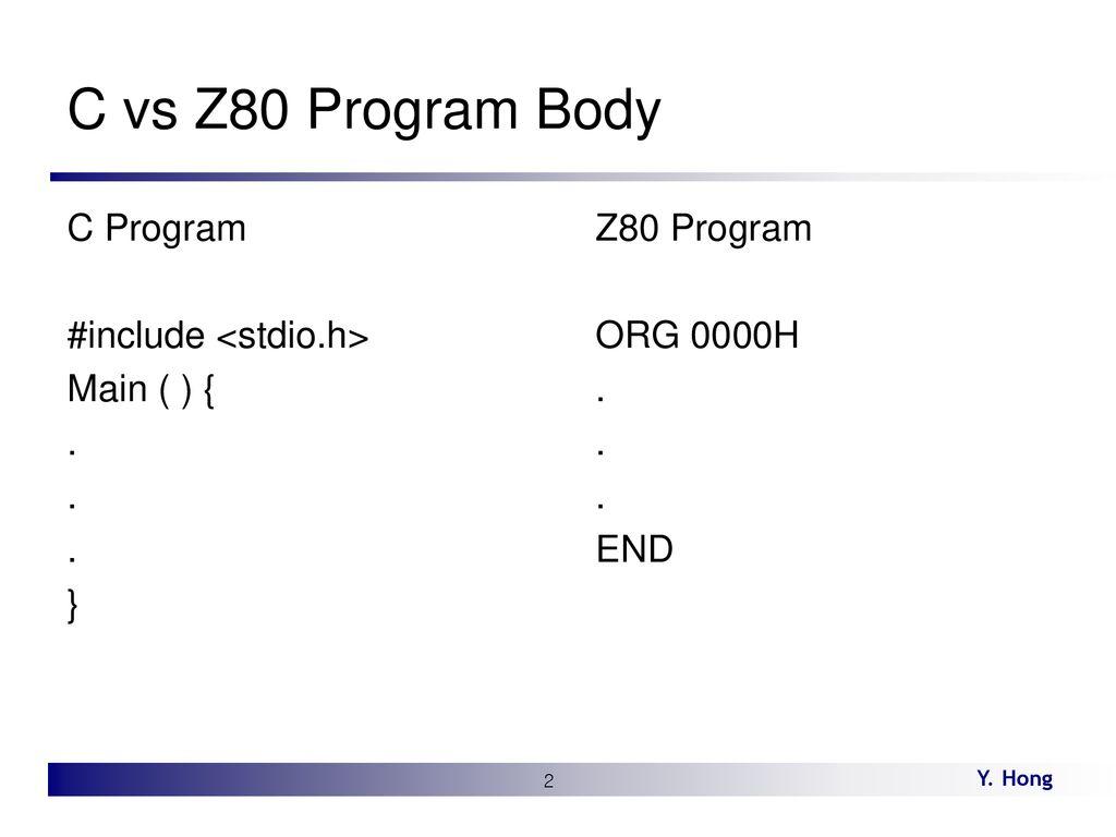 Lecture 11 Z80 Instruction Hong DGU  - ppt download