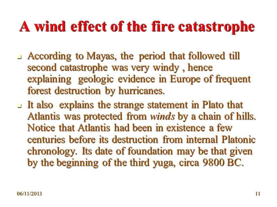 A wind effect of the fire catastrophe