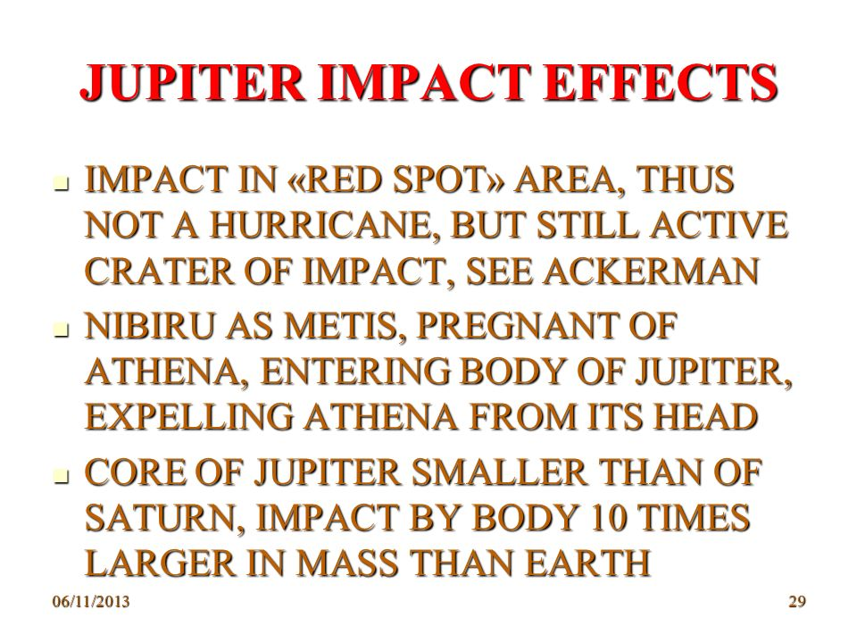 JUPITER IMPACT EFFECTS