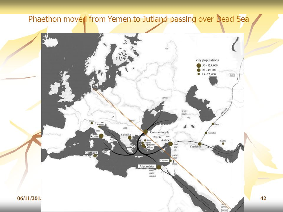 Phaethon moved from Yemen to Jutland passing over Dead Sea